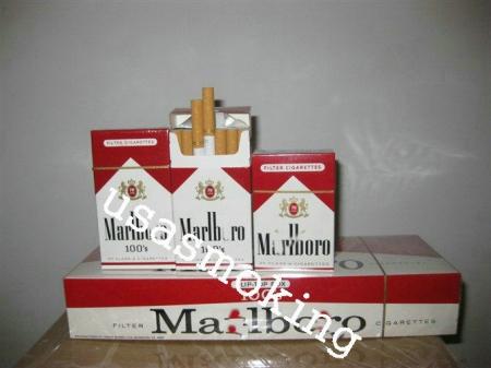 Marlboro red 100s cigarettes carton e cigarette heating up