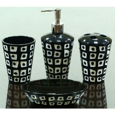 Black and white bathroom accessories wa111 113 114 115 bw - Manufacturer of bathroom accessories ...