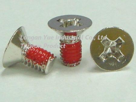 Flat Head Machine Screw Nylok Patch Red, SBA-030063ANL03